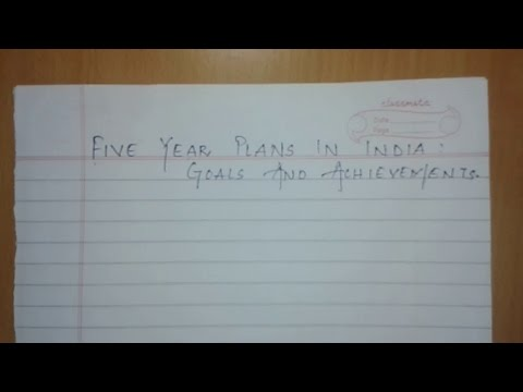 CHAPTER 2:  FIVE YEAR PLAN IN INDIA- GOALS AND ACHIEVEMENT