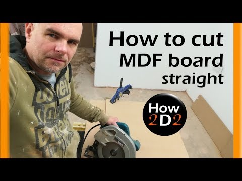 Perfect cut with circular saw How to cut MDF board straight How to use circular saw
