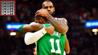 LeBron Hugs Kyrie Irving After Buzzer