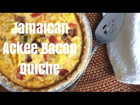 Jamaican Ackee Bacon Quiche – Delicious!