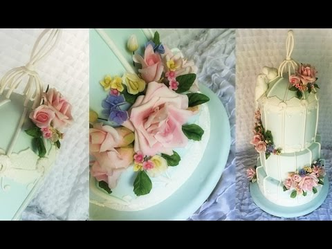 Self-Taught Caker Making Gumpaste Wedding Cake Flowers!
