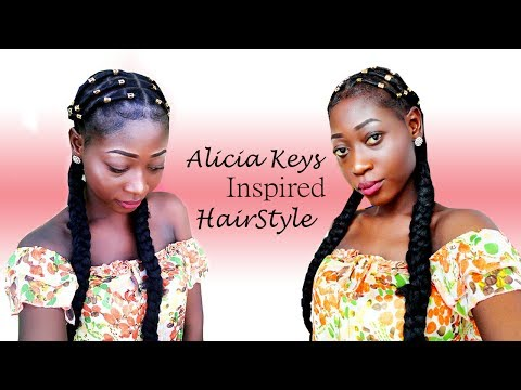 Alicia Keys Inspired Protective Hairstyle w/ Short Relaxed Hair.[Black Girl Edition]