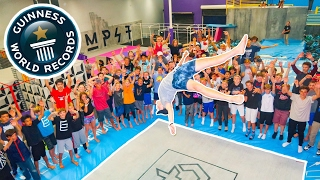 BREAKING SUPER TRAMPOLINE WORLD RECORDS AT WORLD