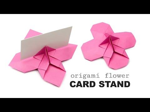 Origami Flower Shaped Card Holder Tutorial ♥︎ DIY ♥︎ Wedding Origami ♥︎