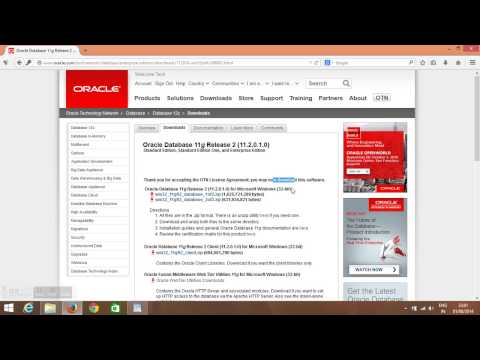 How to download Oracle 11g 32 bit for Windows PC