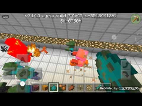 Minecraft PE Mob Battle - Fire Golem VS TheBoss