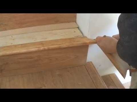 Installing Laminate on Stairs: Stair Tread and Nosing Installation