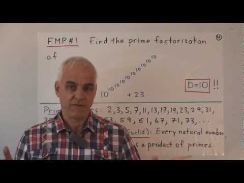 Factoring large numbers into primes | Famous Math Problems | NJ Wildberger