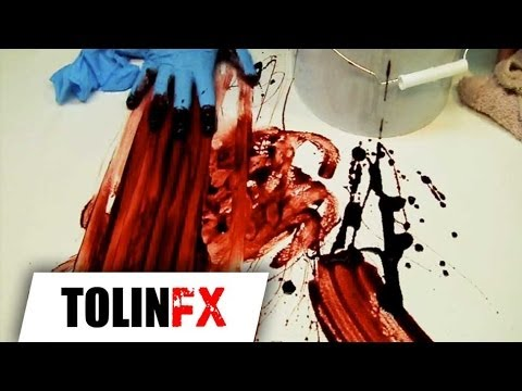 Squib FX- DIY How to make awesome fake blood