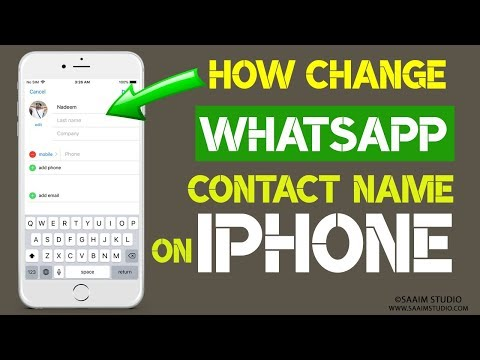 How to Change WhatsApp Contacts Name using your iPhone?