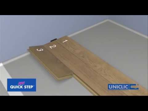 How to install Quick Step laminate flooring planks
