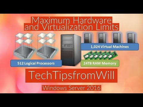 70-740 - Maximum Hardware and Virtualization Limits for Windows Server 2016