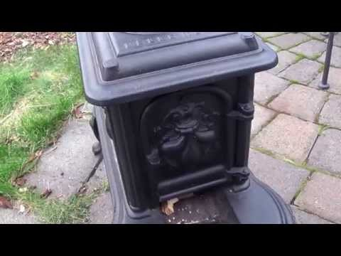 Fixing cracks in a small cast iron wood burning stove