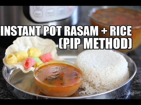 Instant Pot Rasam and Rice | Pot in Pot | One Pot Meal