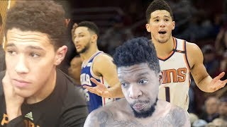 DEVIN BOOKER REPLIES TO MY DISS! 46 POINT TAKEOVER REACTION