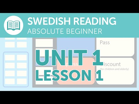 Swedish Reading Practice for Absolute Beginners - Buying a Train Ticket