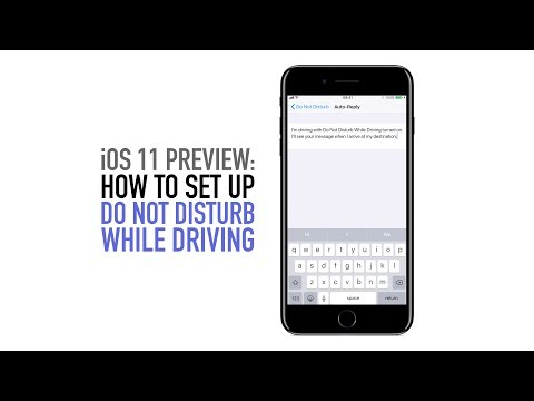 How to set up do not disturb while driving in iOS 11