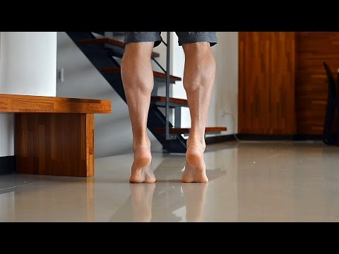 How to get strong lean healthy Calf Muscles with calf raises + stretch own bodyweight