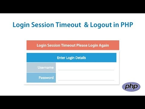 Login Session Timeout & Logout In PHP | Session Time out if User is Inactive