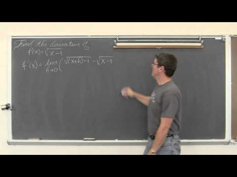 Finding Derivative with Definition of Derivative
