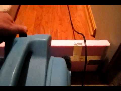 Dry Out Water Damaged Subfloor, Flooded Hardwood Floor Drying