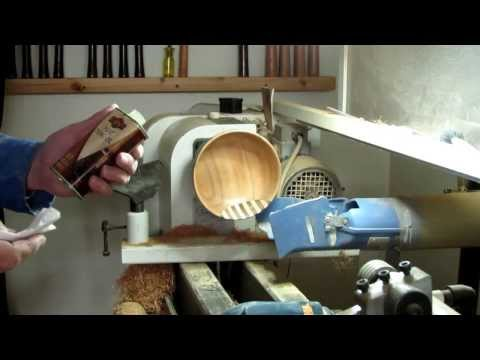 Wood turning: how to repair a cracked bowl