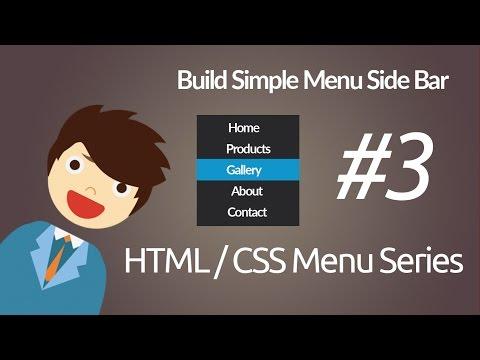HTML & CSS : Build Simple Menu Side Bar