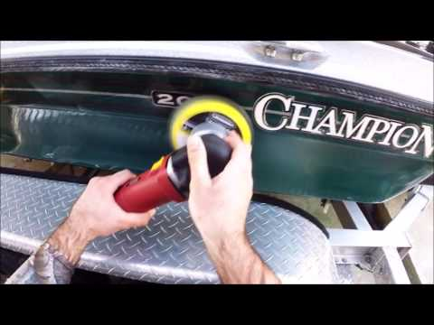 How to Restore Gel Coat on Bass Boat - 2001 Champion 203