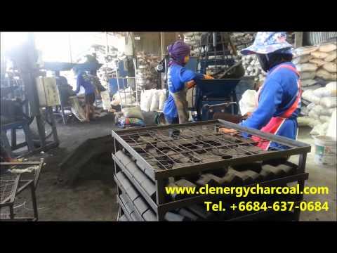 Hexagonal  coconut shell charcoal briquette SC Carbon