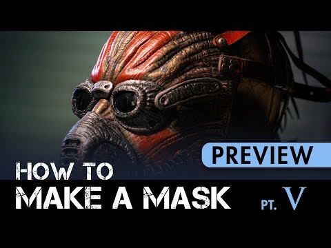How to Make a Mask Part 5 - Leatherwork, Painting & Finishing - PREVIEW