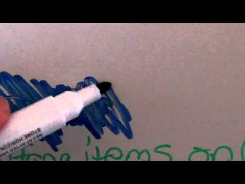 How to Remove old ink from a Dry Erase Board.