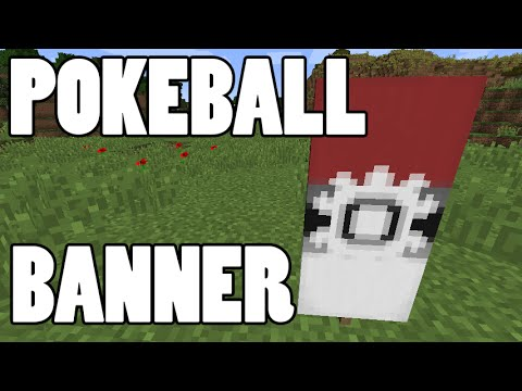 Pokeball Banner in Minecraft! Show Your Love of Pokemon With the New Minecraft Banners!