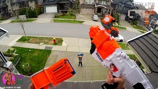 Nerf War: BROTHER vs SISTER   First Person 4K GUN GAME! (Call of Duty)