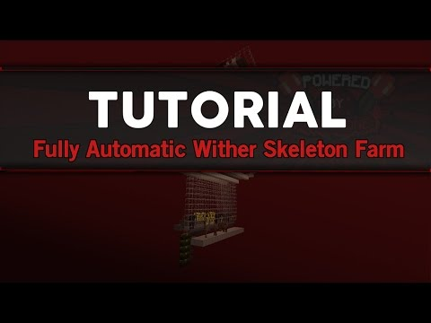 Minecraft Automatic Wither Skeleton Farm Tutorial | Works in all 1.7, 1.8, 1.9 Updates |