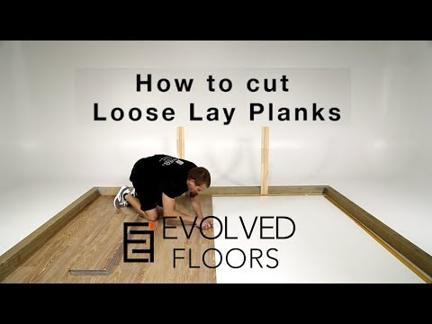 How to Install Vinyl Plank Flooring: How To Cut A Plank Against the Wall