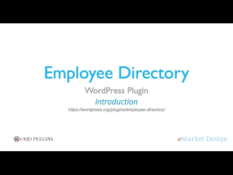 Employee Directory WordPress Plugin - Introduction