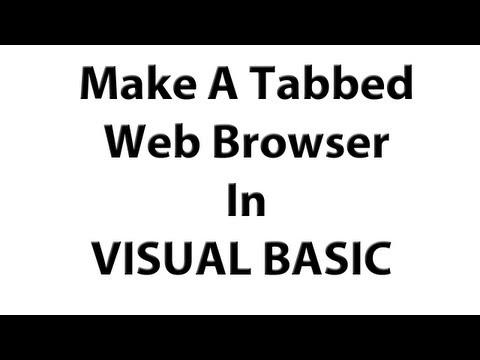 Hot To Make A Tabbed Web Browser In Visual basic - How To Make A Tabbed Web Browser In Visual Basic 2008 2010 VB
