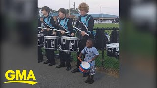 4-year-old's jaw-dropping drum skills viewed by millions on Facebook