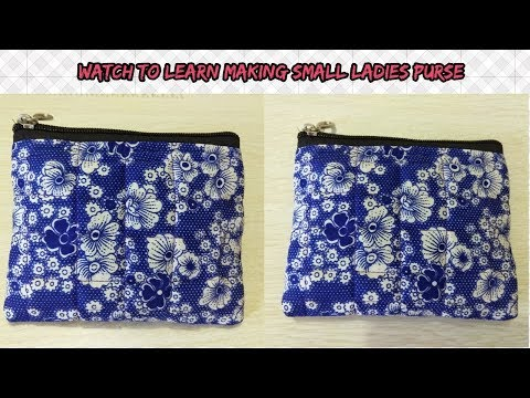 small ladies purse making Hindi tutorial/single zipper ladies purse/