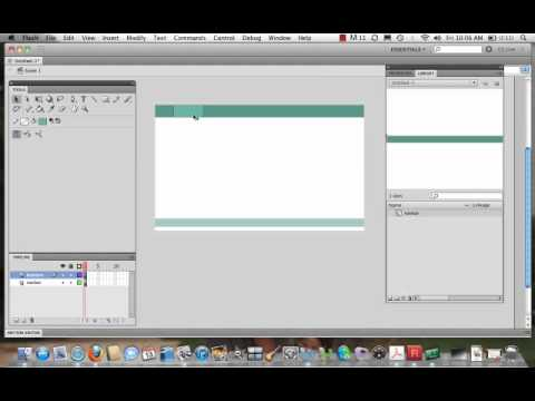 Building a Website in Flash CS5- Video 1