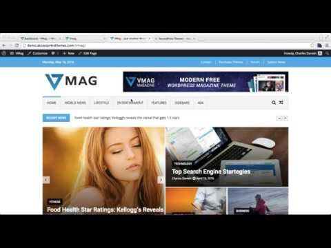 Vmag - How to Add Menus In Header, Top and Footer Along With Header Ad