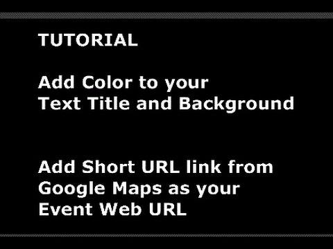 How to Change the Title Color & Add a Short Google Maps URL link on   GarageSalesWinnipeg.com