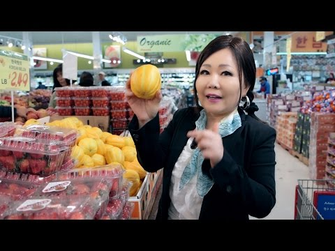 Korean Grocery Shopping: Rice & produce