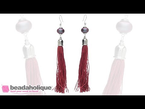 How to Make a Long Silk Tassel Statement Earring
