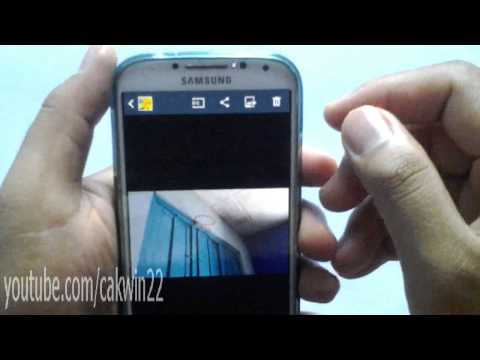 Cara Hapus Gambar atau Video Lewat Galery Android 4.3 Jelly Bean Samsung Galaxy S4