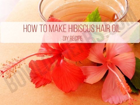 How to make hibiscus hair oil at Home - DIY recipe