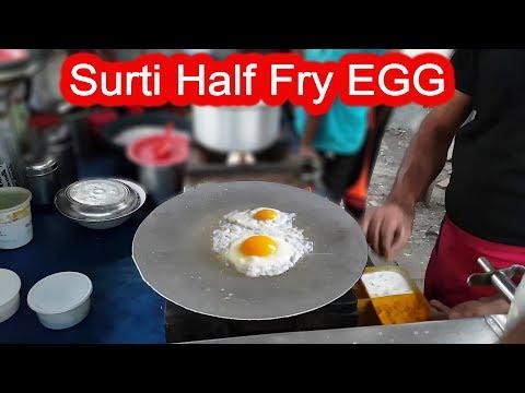 Surti Half Fry Egg | egg half fry | Surat Egg Dish | Egg Kachu | Indian Street Food