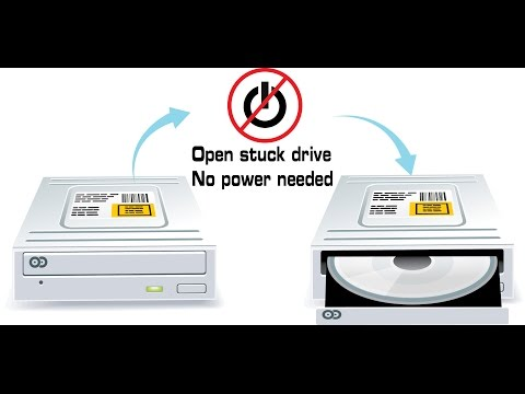 How to open a dvd cd drive with no power or if stuck - desktop or laptop