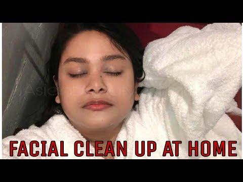 #FACIAL #CLEAN UP AT HOME IN HINDI | #HowTo GET #HEALTHY #FLAWLESS #SKIN | AsianBeautySarmistha