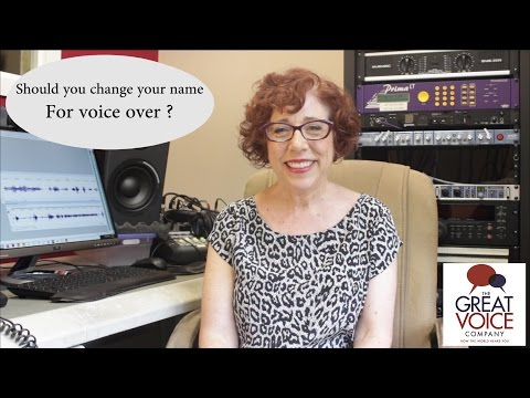 Should you change your name for voice over